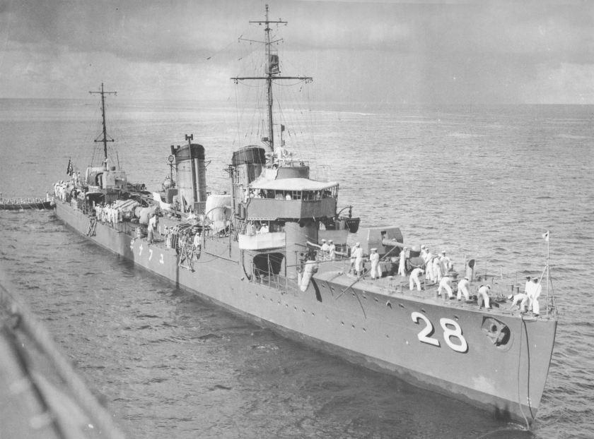 Japanese destroyer Yunagi