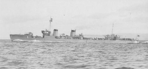 Japanese destroyer Kamikaze, before her refit