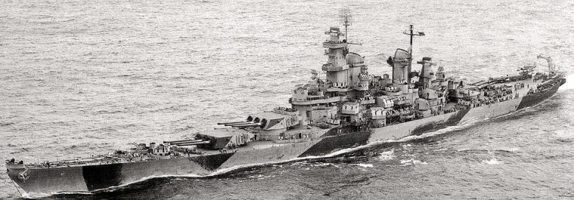 USS Iowa (BB-61) in camouflage